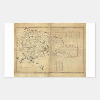 Provincia del mapa topográfico de New Hampshire Pegatina Rectangular