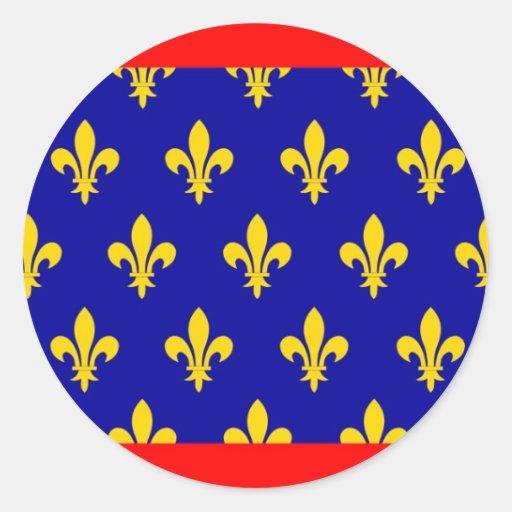 provincia país-región de la bandera de Francia Pegatina Redonda