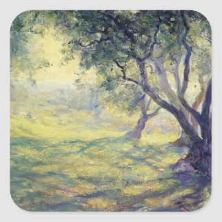 Provincial Olive Grove by Guy Rose Square Sticker