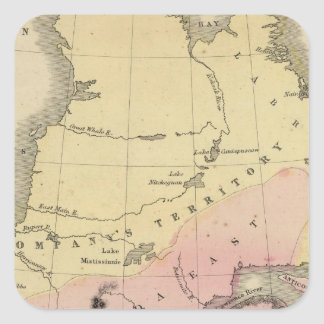 Provincias británicas de Norteamérica Pegatina Cuadrada