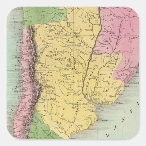 Provincias, chile y Patagonia unidos Calcomanías Cuadradas
