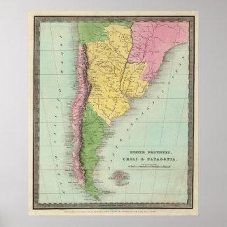 Provincias, chile y Patagonia unidos Póster
