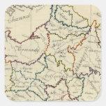 Provincias de Francia Pegatina Cuadrada