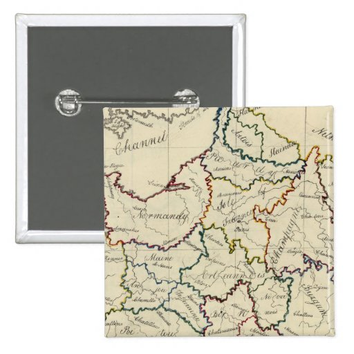Provincias de Francia Pin Cuadrada 5 Cm