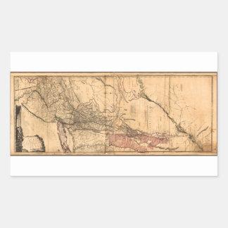 Provincias de Nueva York y de New Jersey (1768) Pegatina Rectangular