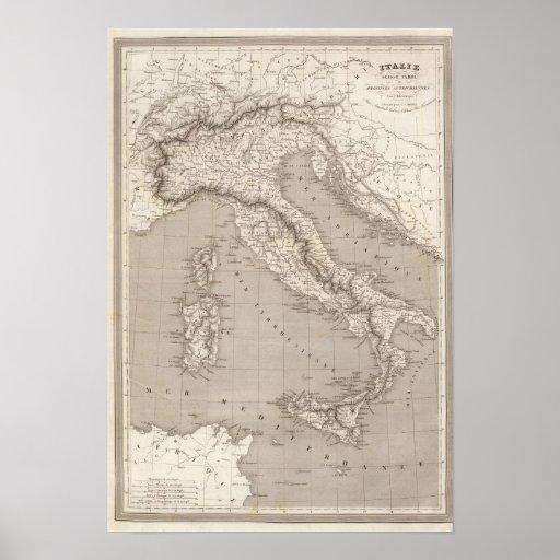 Provincias del austriaco de Italia, de Suiza y del Póster