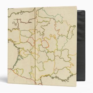 """Provincias, esquema de Francia Carpeta 1 1/2"""""""