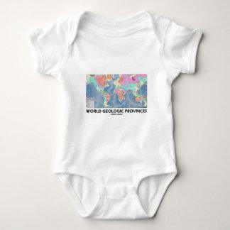 Provincias geológicas del mundo (geología del mapa body para bebé