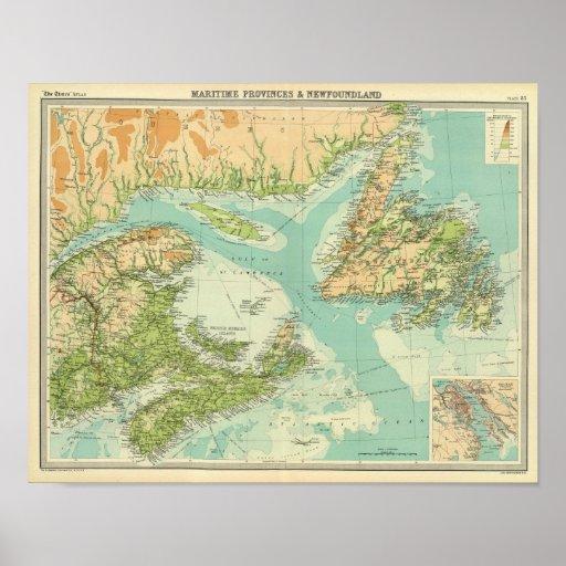 Provincias marítimas y Terranova Impresiones