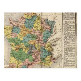 Provincias y departamentos de Francia Tarjeta Postal
