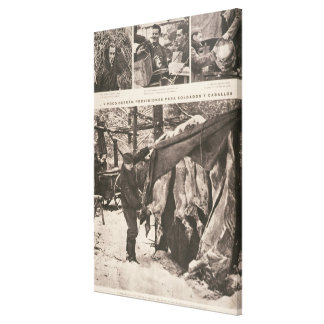 Provisions for soldiers & troops on Eastern Canvas Print