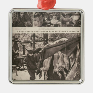 Provisions for soldiers & troops on Eastern Metal Ornament