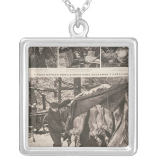 Provisions for soldiers & troops on Eastern Silver Plated Necklace