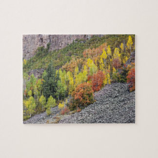 Provo River and aspen trees 10 Jigsaw Puzzle