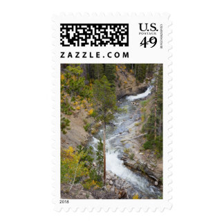 Provo River and aspen trees 14 Stamp