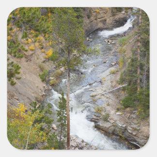 Provo River and aspen trees 14 Sticker
