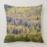 Provo River and aspen trees 3 Throw Pillows