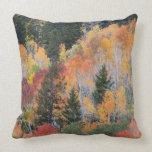 Provo River and aspen trees 4 Throw Pillows