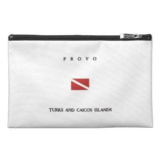 """Provo """"Turks and Caicos"""" Islands Scuba Dive Flag Travel Accessory Bag"""