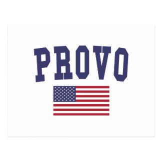 Provo US Flag Postcard