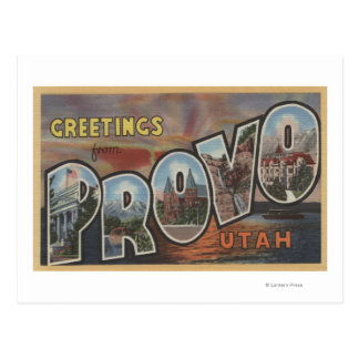 Provo, UtahLarge Letter ScenesProvo, UT 2 Postcard