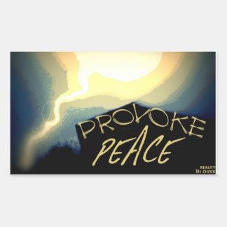 Provoke Peace Stickers
