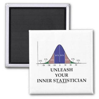 Provoque a su estadístico interno (el humor de la  imán cuadrado