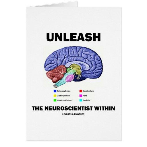 Provoque al neurólogo dentro (la anatomía del cere tarjeta de felicitación