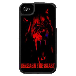 Provoque la caja del teléfono de la bestia iPhone 4 cárcasas