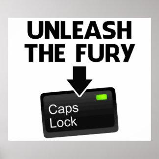 Provoque la cerradura de casquillos de la furia póster