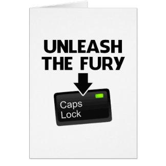 Provoque la cerradura de casquillos de la furia tarjeta de felicitación