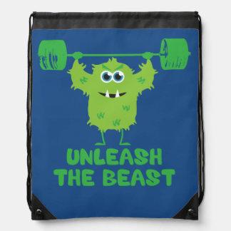 Provoque la motivación del gimnasio de la bestia mochila