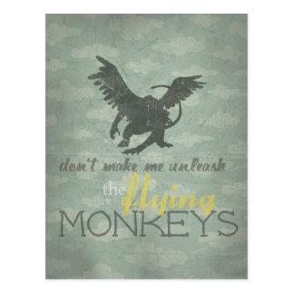 Provoque los monos del vuelo tarjetas postales