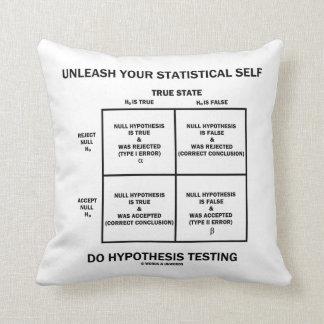 Provoque su prueba estadística de la hipótesis del almohadas
