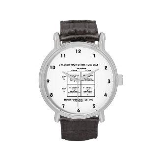 Provoque su prueba estadística de la hipótesis del relojes de pulsera