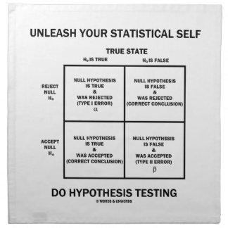 Provoque su prueba estadística de la hipótesis del servilleta imprimida