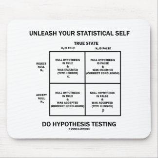 Provoque su prueba estadística de la hipótesis del alfombrillas de raton