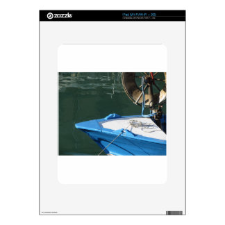 Prow of a wooden fishing boat with trawl winch decal for iPad