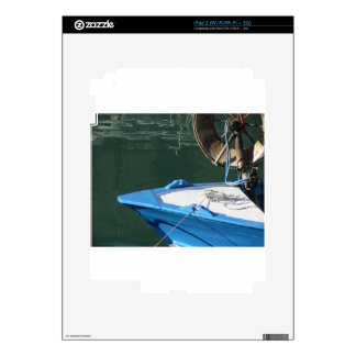 Prow of a wooden fishing boat with trawl winch iPad 2 decal