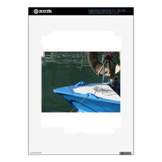 Prow of a wooden fishing boat with trawl winch skin for iPad 3