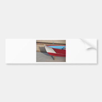 Prow of wooden racing boat with ten seats bumper sticker