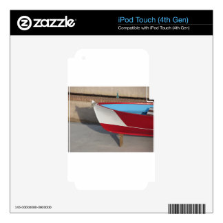 Prow of wooden racing boat with ten seats decal for iPod touch 4G