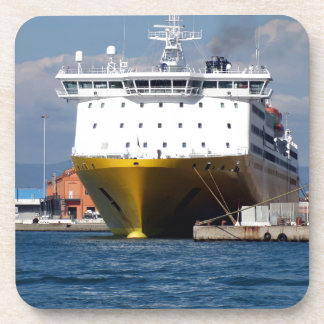 Prow view italian ferry beverage coasters