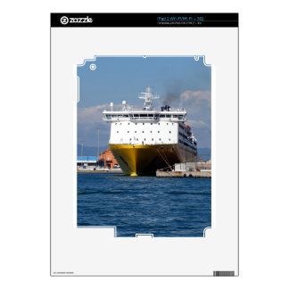 Prow view italian ferry decal for the iPad 2