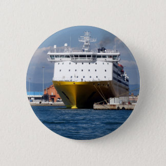 Prow view italian ferry pinback button