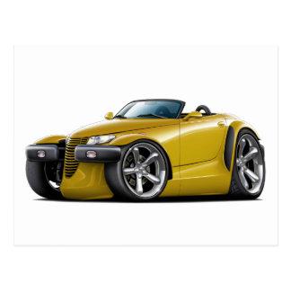 Prowler Gold Car Postcard