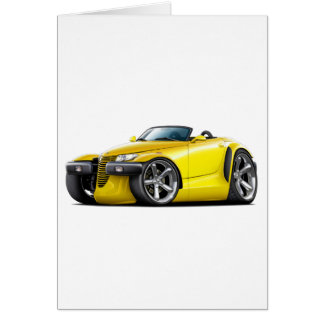 Prowler Yellow Car Card