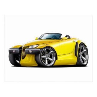 Prowler Yellow Car Postcard