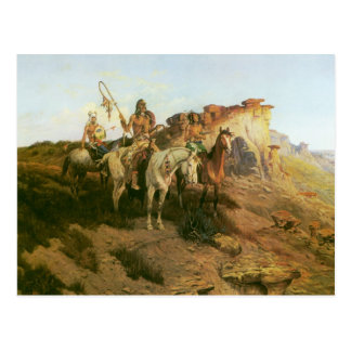 Prowlers of the Prairie, Seltzer, Vintage Indians Post Card