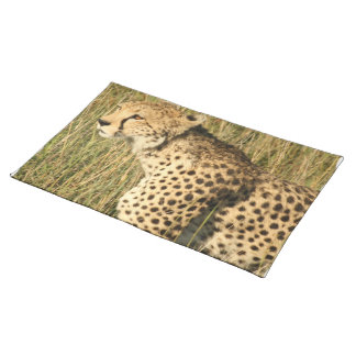 Prowling Cheetah Placemat Cloth Place Mat